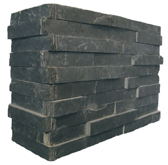 corner black slate wallstone
