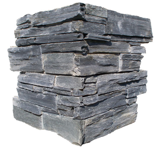 corner concrete black slate wallstone culture stone