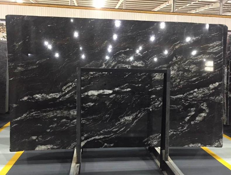 Cosmic Black Granite Slabs for Countertops