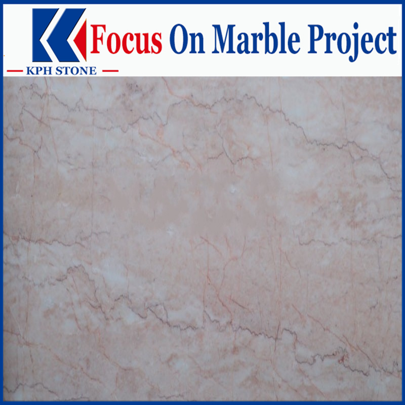 Rosa Creama marble tile bathroom floor
