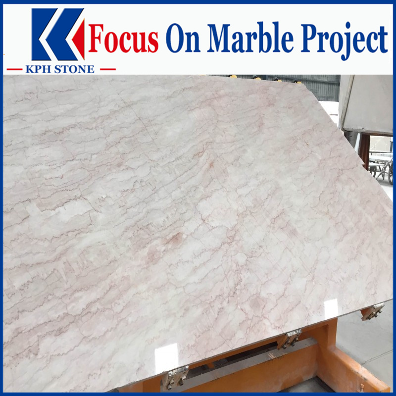 Cream Rose Marble slabs for Hyatt regency hotel