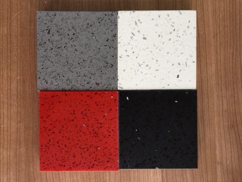 crystal grey quartz stone slab