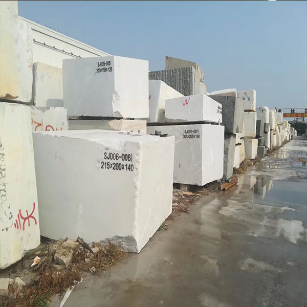 Crystal white marble block
