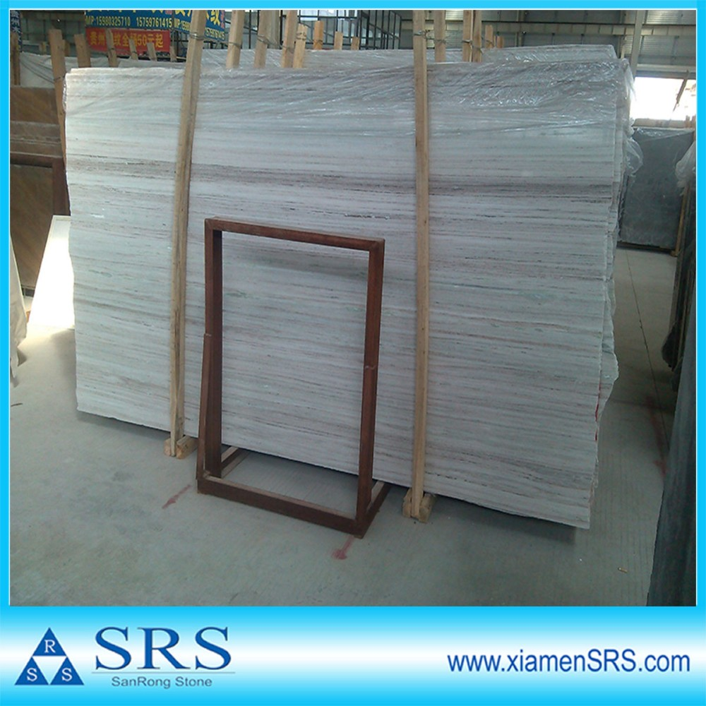 Crystal white wooden marble big slabs tiles