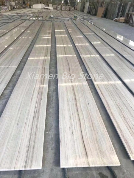 Polished Chinese Crystal Wooden Marble Tiles