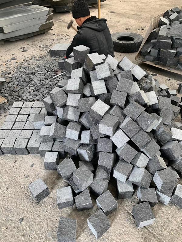 black basalt new G684 cube stone