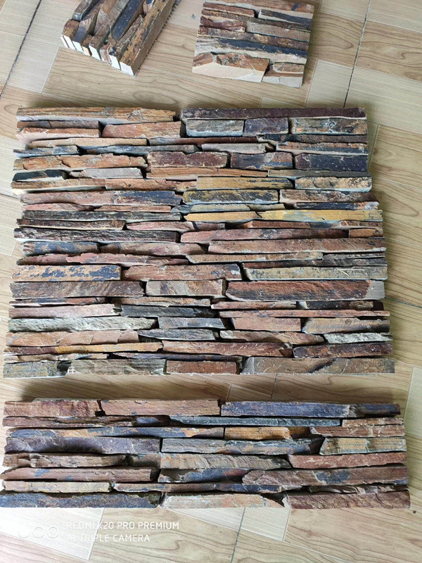 Multicolor Slate Cultured Stone China Culture stone Decoration Stone