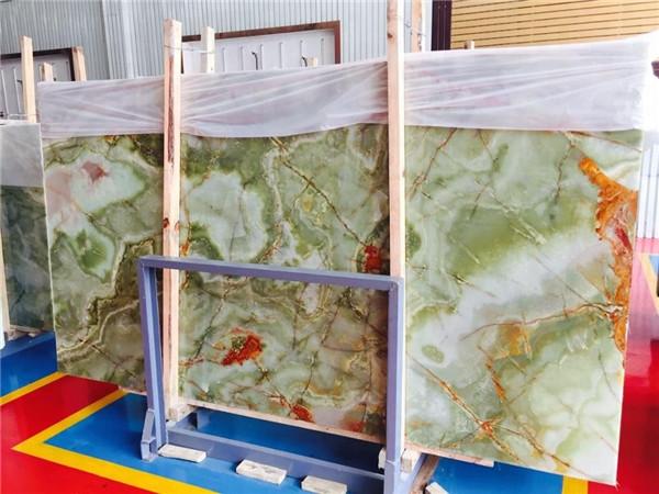 Custom Natural Onyx Marble Flooring Design