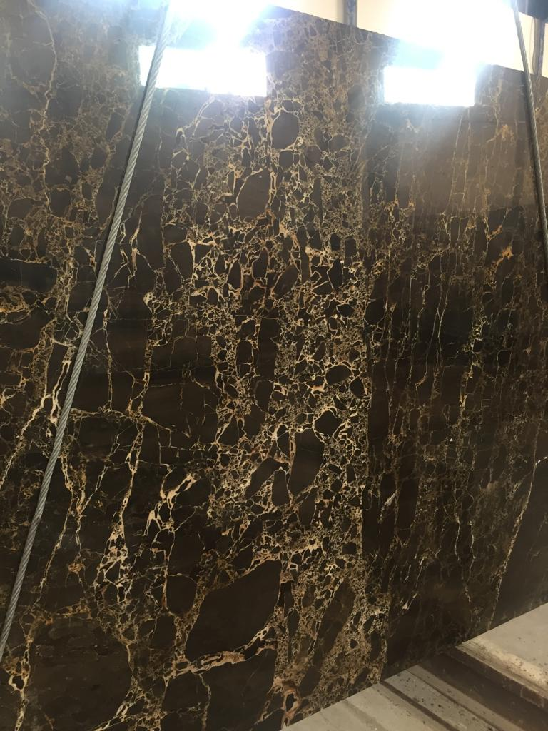 Dark Emperador Marble Polished Slabs