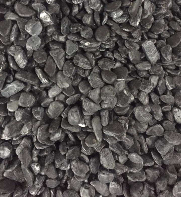 black pebble stone  Vietnam tumbled pebble