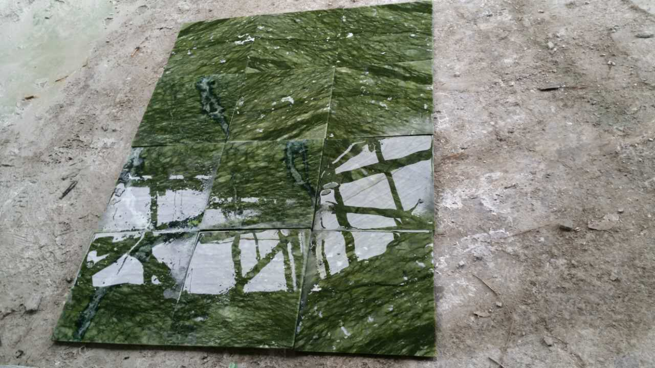 Dark Green Dandong Green Tiles Polished Surface