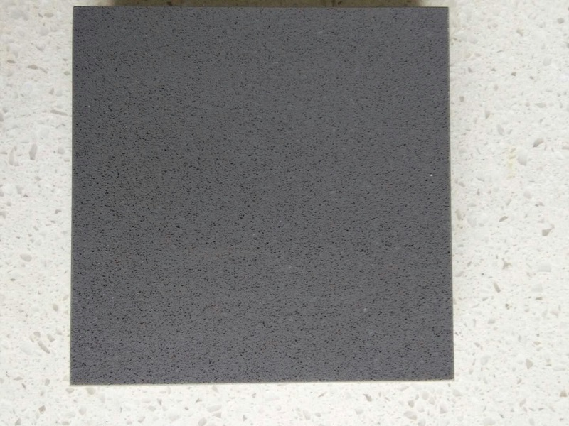 dark gray quartz stone slab