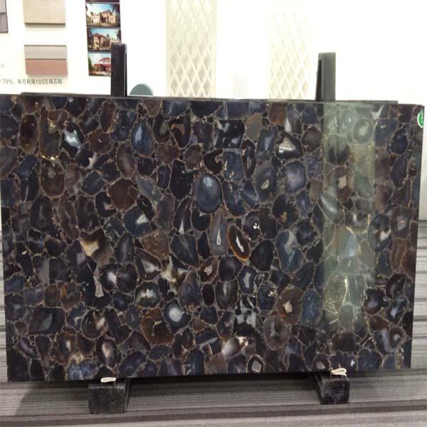 Black onyx agate stone