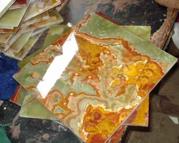 Multi Green Onyx Tiles