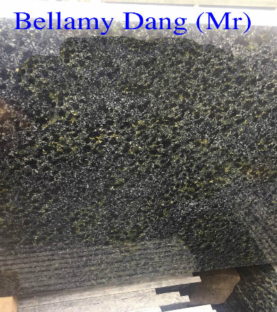 competitive price Polished Black Natural Granite with Yellow Spotted DAV