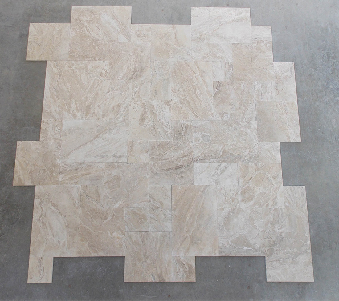 Diano Reale Travertine French Pattern Tile