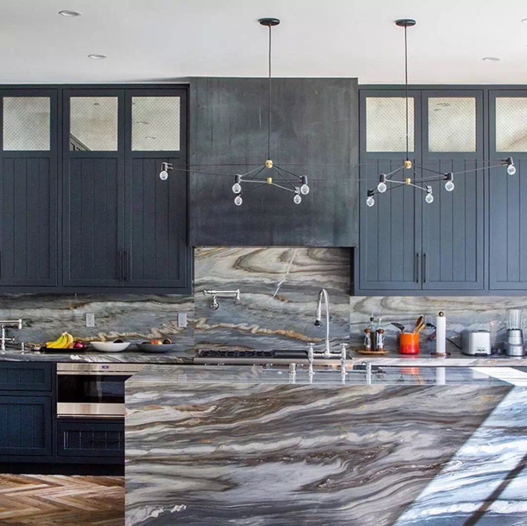 Dark Grey Marble Island Tops Bar Tops