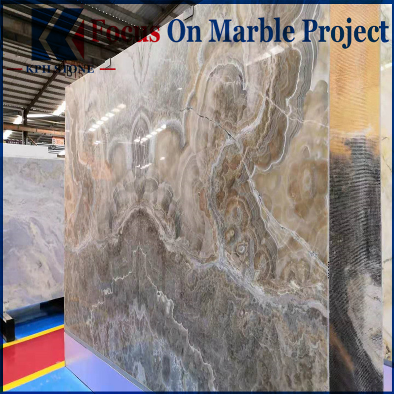 Brown coffee onyx stone slab for background