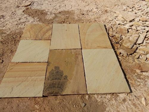 Fossil Mint Sandstone Tiles for Paving