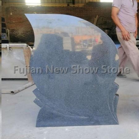 G654 Grey Granite tombstone