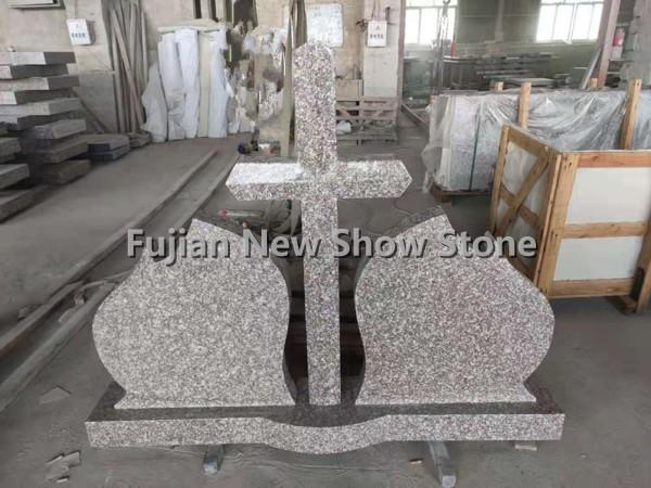 Brown granite tombstone