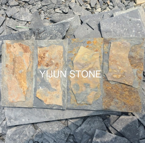 China Cheap Natural Slate Nushroom Stone Rusty Slate Stone Tiles Wall Stone