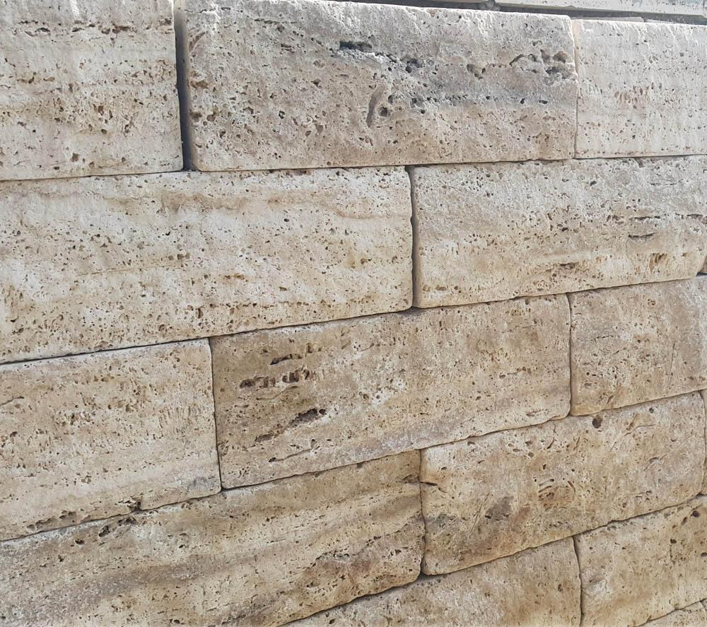 Travertine Garden Wall Natural Stone