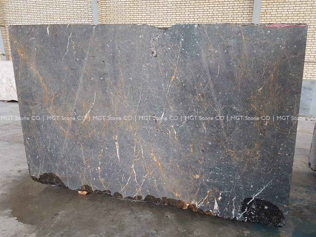 Golden Black Marble Block