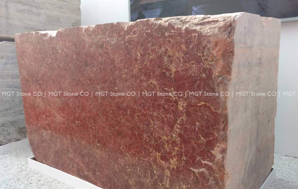 Golden Rose Marble Block