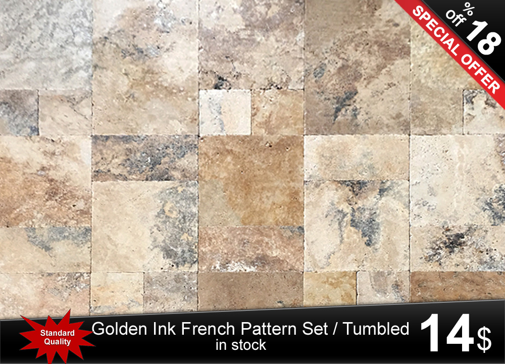 Golden Ink Travertine French Pattern Set