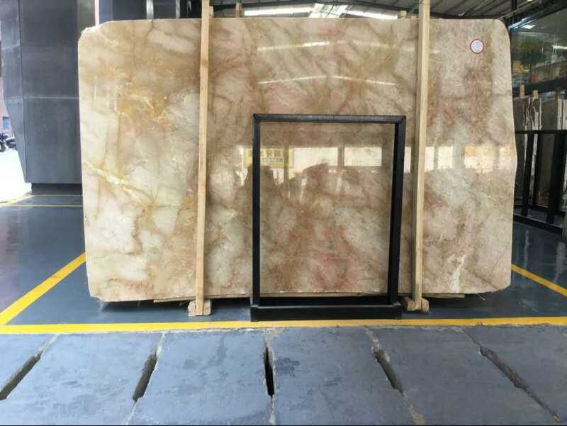 Golden leaf Marble slab