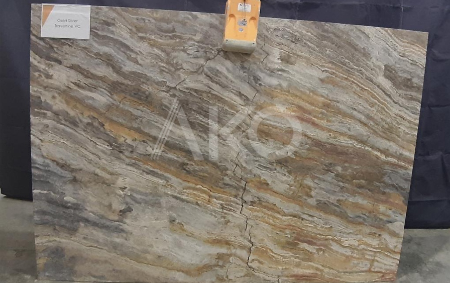 Silver Gold Travertine