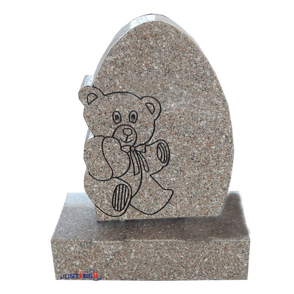 Cartoon Bear Granite Headstone For Child