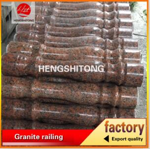 Red granite stone pillar G562 balustrade pillar