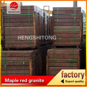 Maple red granite natural surface kerbstone granite