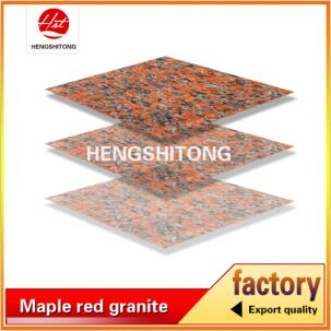 G562 maple leaf polished red granite slab