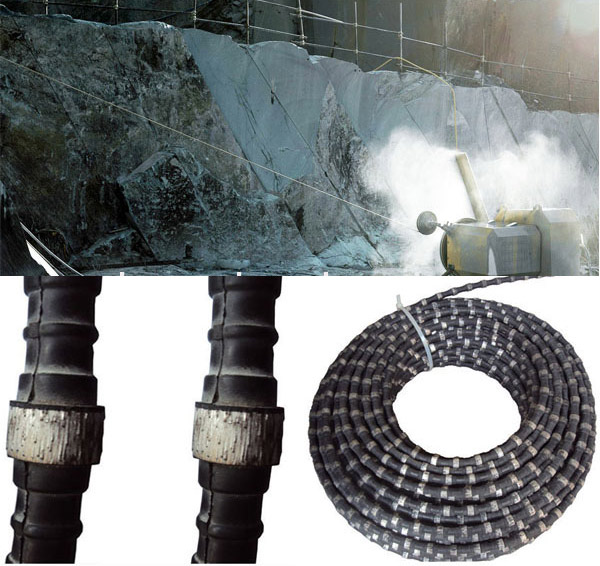 High cutting ability diamond wire saw for granite quarrying