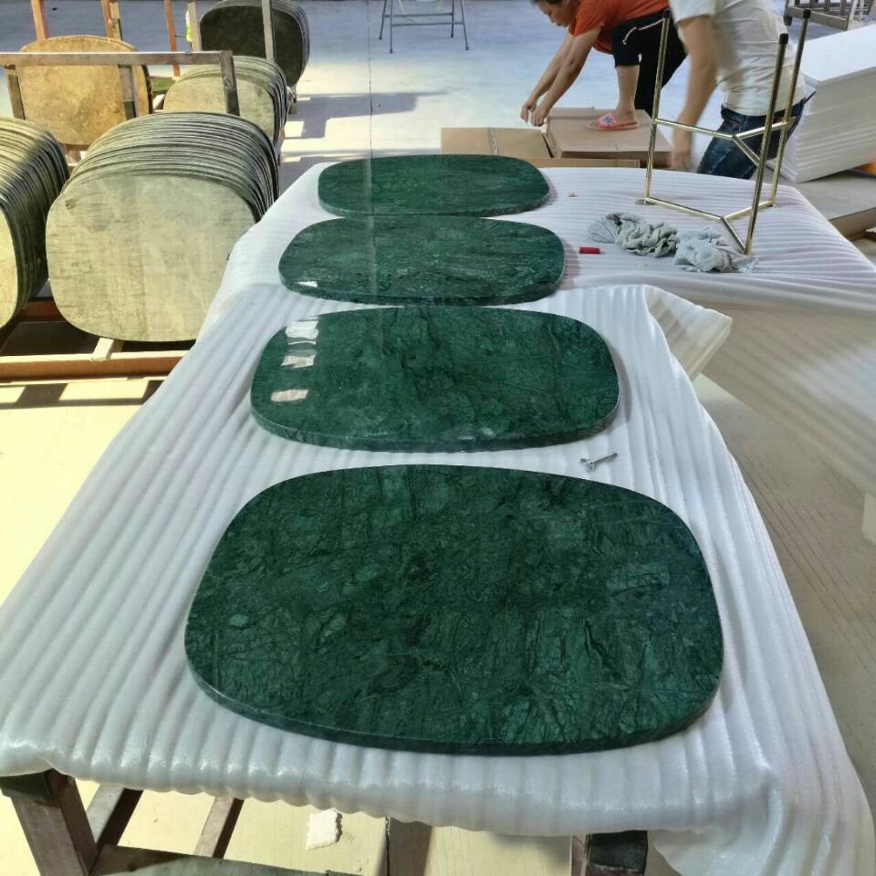 Green table tops