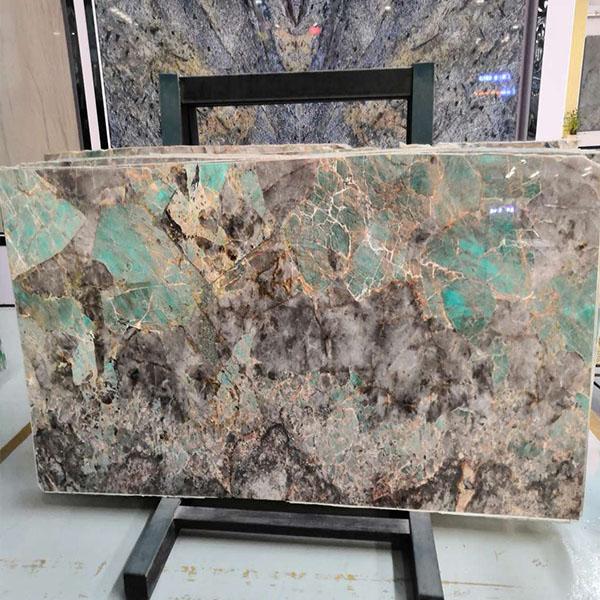 Green Amazzonite Slab