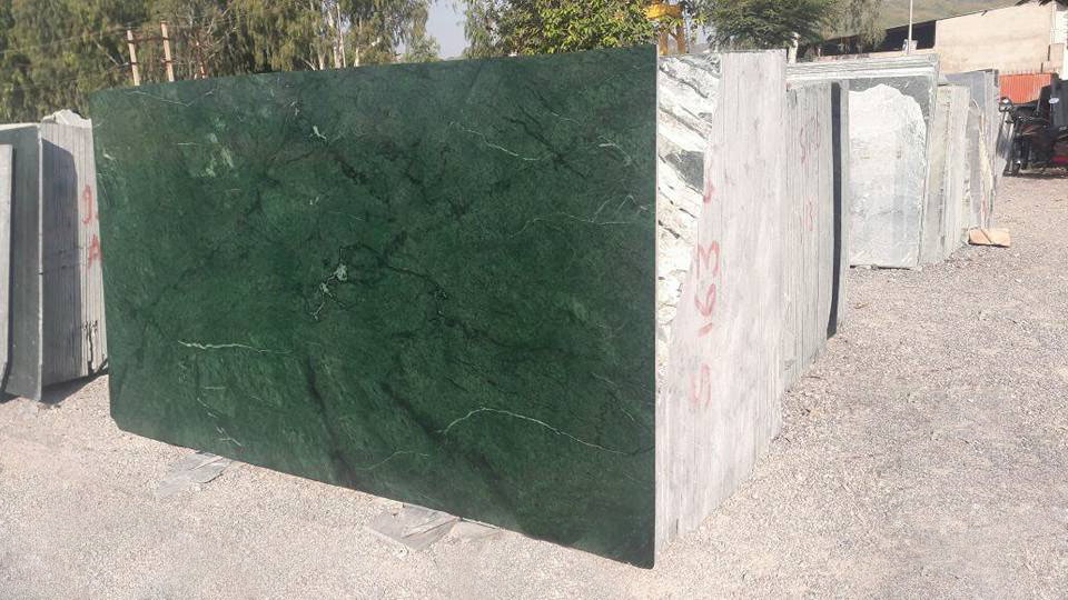 India green marble slab