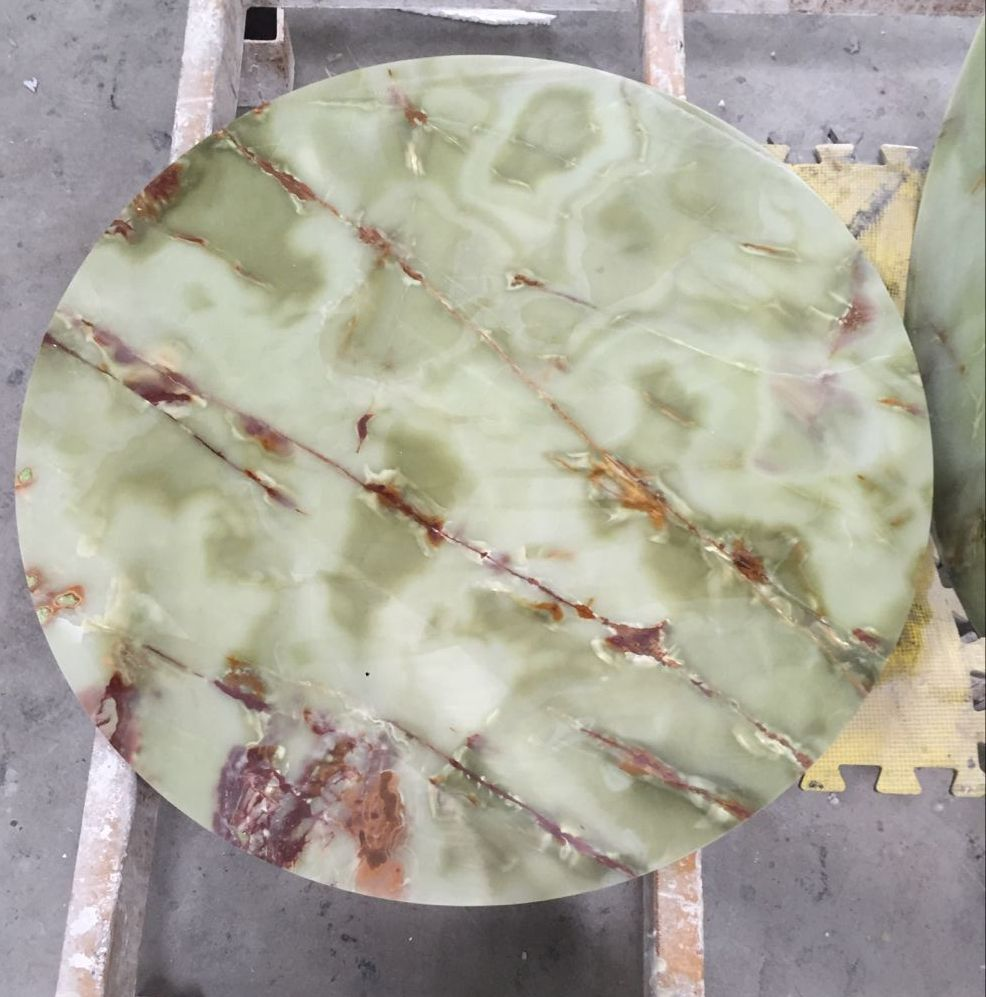 green onyx table top