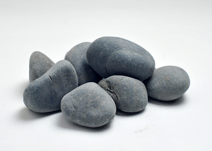 Grey black pebble