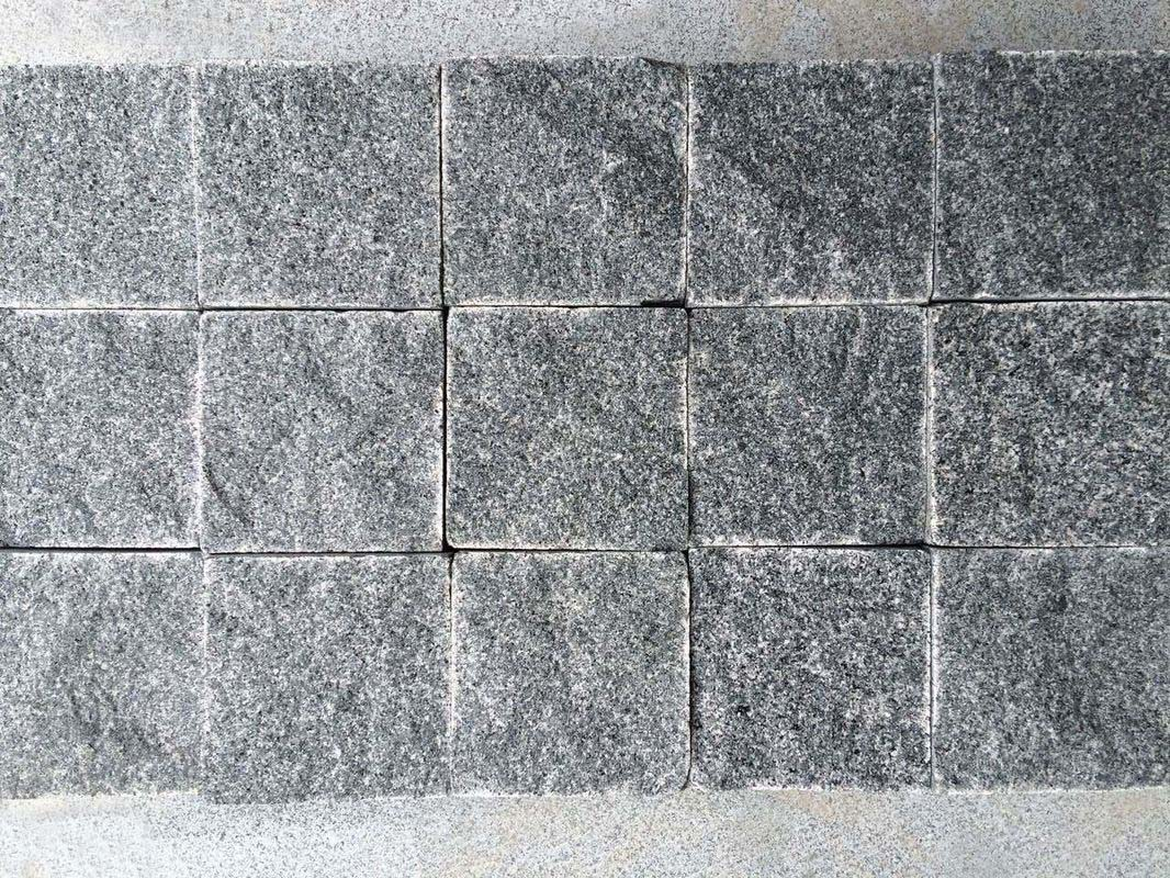 grey granite cobblestone pavers