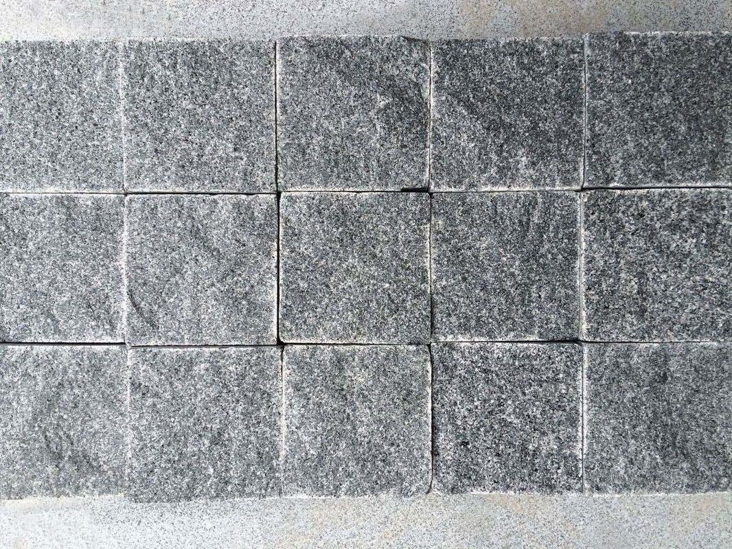 grey granite cobblestone pavers