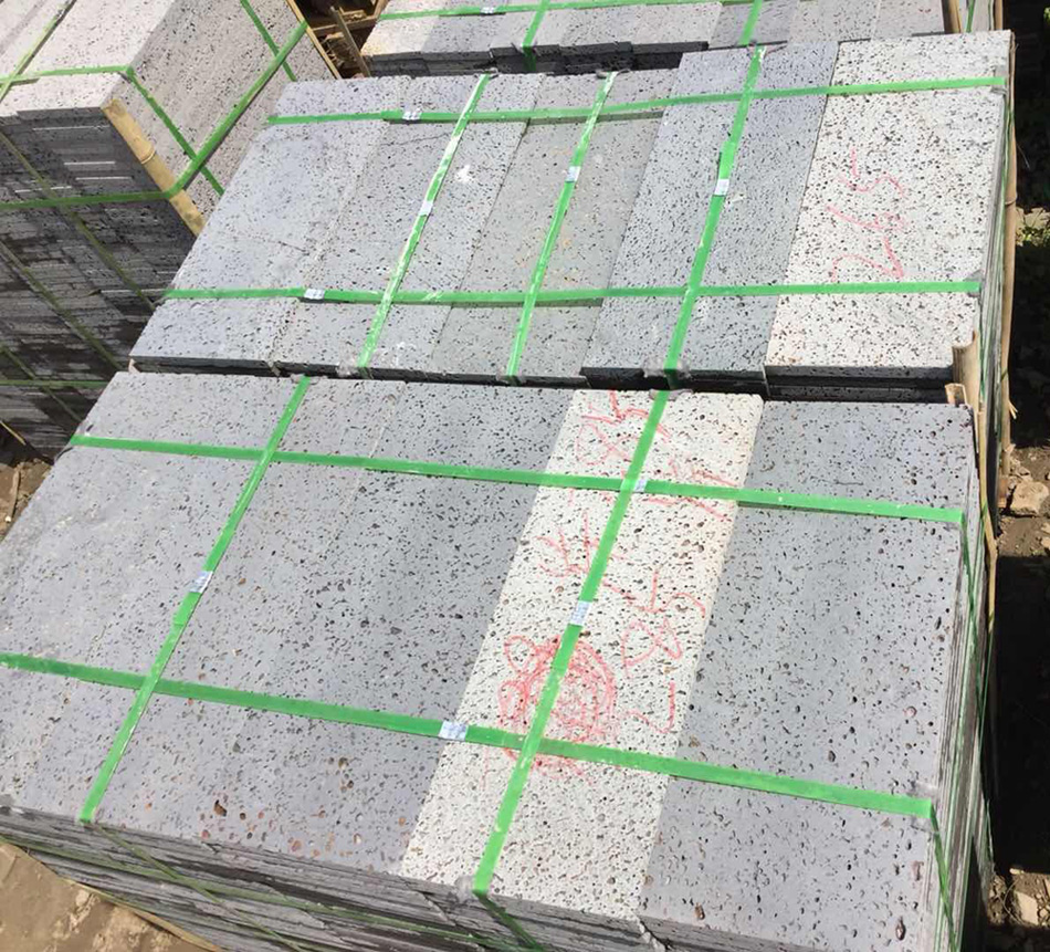Hainan Grey Basalt Honed or Machine Cutting 3cm 5cm 10cm thickness