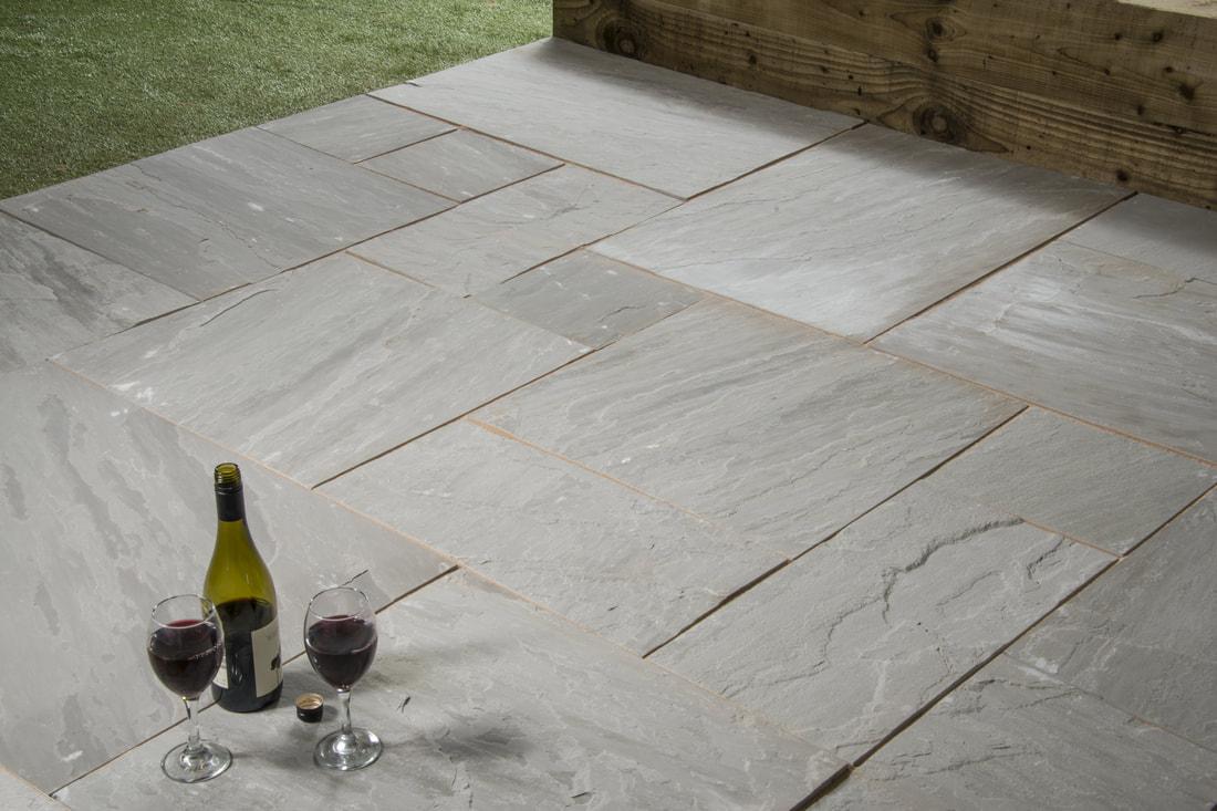 Kandla Grey Sandstone Paving Tiles