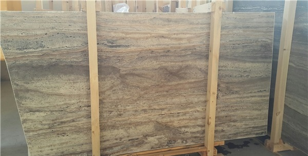 Turkey Natural grey Travertine Slab