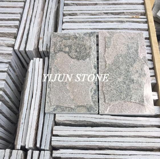 China Pink Natural Quartzite Mushroom Stone Wall Tiles