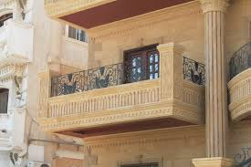 Egypt building facade beige limestone