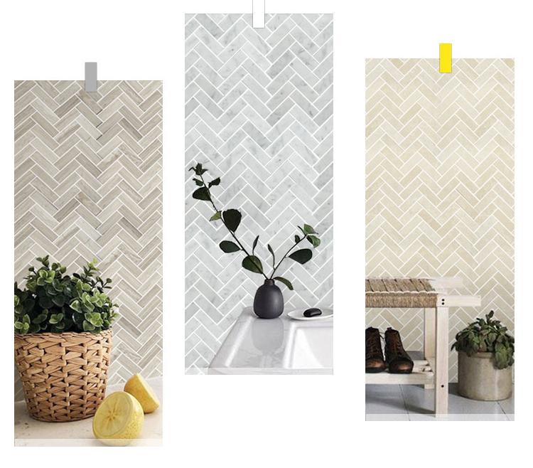 herringbone mosaics tile